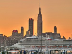 Carnival cruise ship sailing from New York Cruise Terminal