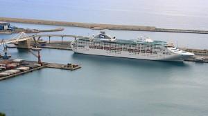Barcelona Cruise Terminal Docked Cruise Ship